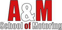 A & M School of Motoring Logo